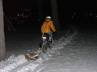 Bike snow plow