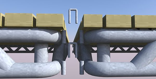 Rendering of Relief Platform and 'U' Brackets