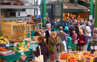 Crowds shopping at Borough market, south London - geograph.org.uk - 1522109.jpg