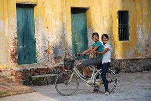 Girls on a Bicycle.JPG