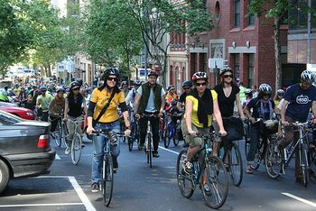 Cyclists riding in Melbourne for 350 Climate Action.jpg